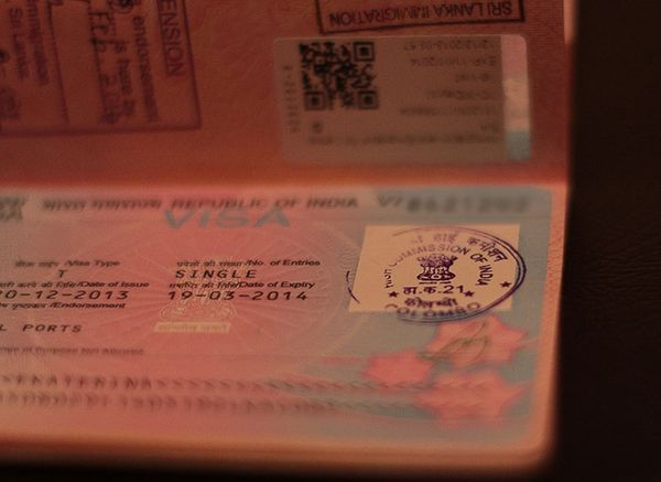 Getting Indian Visa on Sri Lanka